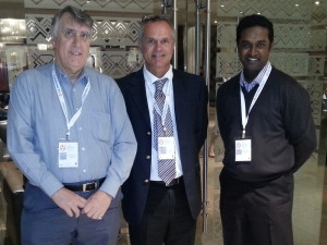 From left to right: Ken MacGregor, CTO of Eluminary; Guy Eastoe, MD of Snap-Tech; Kevin Naicker, DVT.