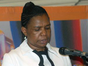 Communications minister Dina Pule scored an E in the Democratic Alliance's report card.
