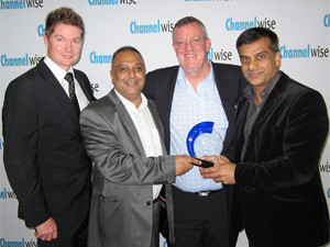 ictured at the awards presentation, from left: Zane Heydenrych (Channelwise), Mahomed Cassim (Esquire Technologies), Mark Davison (Channelwise) and Asgar Mahomed (Esquire Technologies).