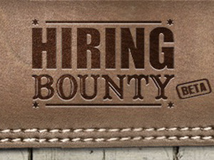The bounty offered by the company that posts the job listing, is split equally between Hiring Bounty, the successful applicant and the referrer.