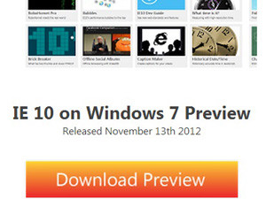 IE 10 was built specifically for Windows 8, and IE 10 for Windows 7 has the same look and feel, and most of its key features.