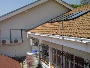 Solar pre-heating with heat pump backup at Zuid Afrikaans Hospital.