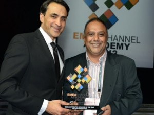 From left to right: Farouk Hemral, CEO and Co-Founder Distree Events, Mohamed Cassim, CEO of Esquire Technologies.