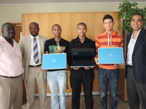 Dell bursary handover at the University of the Western cape.