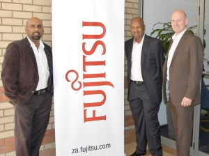 (From left to right) Puven Ramasamy, Fannie Mahlangu and Quentin Schots - Equity partners in Fujitsu's B-BBEE Deal.