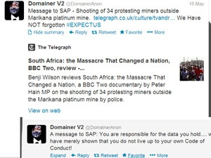 @DomainerAnon alerted the public to the breach in police security via Twitter.