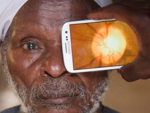 Peek uses the smartphone's camera and flash to help diagnose vision impairments. Photo by Peek.
