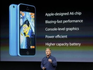Phil Schiller, Apple senior VP of worldwide marketing, talks about the features of the new iPhone 5C.