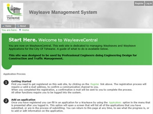 Companies can register online to use the e-Tshwane wayleave management system.