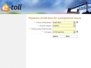 A portal on Sanral's Web site can be used - with or without login credentials - to track vehicles on Gauteng's highways.