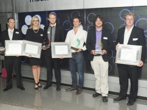 From left to right:  Carl Baumeisten (MARTI), second and third (VeinAid partners), Michael Suttner (The Lightie), Rudolph De Wet (Ka-Ching) and Jaco Marais (Ka-Ching).