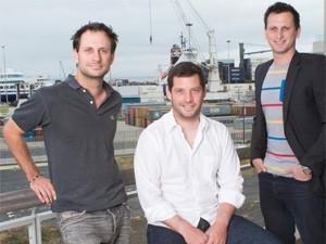 (Left to right) Jan Pickard, Korak Kuhnert, Daniel Marcus founders of Magnetic Software.