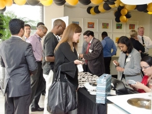 Delegates registering for the expo.