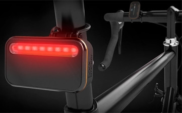 iKubu's Backtracker device addresses visibility concerns for cyclists.
