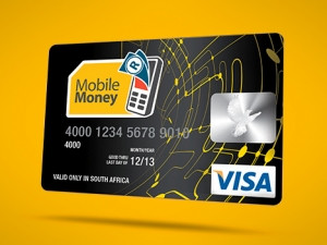 Mobile Money users can purchase a Visa card for a once-off fee of R29.