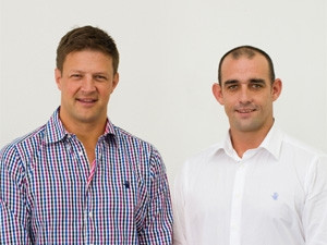 Seartec's recently appointed CEO and chief marketing officer - Mark McChlery and Bob Skinstad.