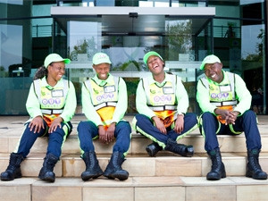 From left: Tsakane Nkuna, Masilo Gilbert Machubene, Nthabiseng Lilly-Hope and Steyn Mathole help ease the traffic in our cities' busiest intersections.