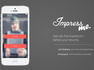 The Impress Me app gives the job seeker an opportunity to visually impress the prospective employer, says Byte Orbit's Martin Ras.