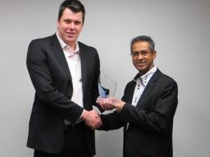 Left: Ian Calder - General Manager, Kathea. Right: Fairoz Jaffer - Director, Galdon Data.