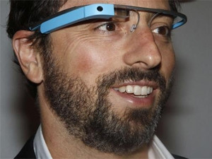 Google co-founder Sergey Brin wearing the company's now defunct Google Glass glasses. (Photograph by Reuters)