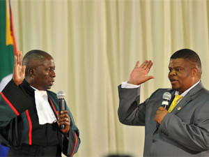 Disciplinary action may be taken against the operator of the jamming device, says state security minister David Mahlobo.