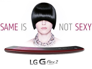 """As smartphone form factor has become vanilla, curved screens may be a significant differentiator. (LG, advertising its new """"improved"""" curved offering)"""