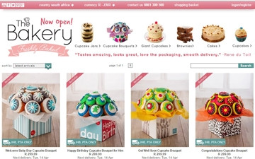 NetFlorist's bakery now offers confectionary products such as the cupcake bouquet.