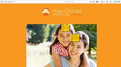 Microsoft's 'how old' app does not store pictures, and will not reuse them.