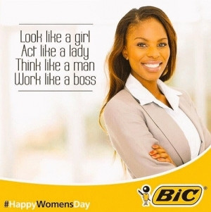 """Bic's """"empowering"""" Women's Day slogan probably brought Staedtler plenty of new customers."""