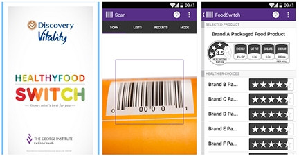 The HealthyFood Switch app highlights the hidden salt, fat and sugar in packaged food.