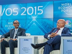 Presidents Paul Kagame (left) and Jacob Zuma.