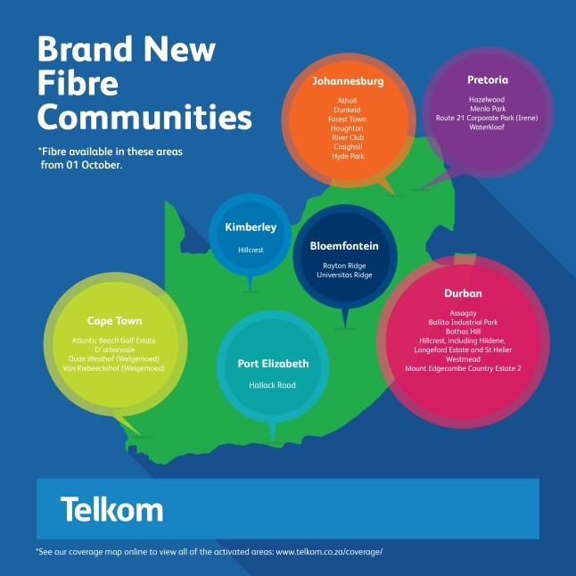 Telkom fibre expanded to include more communities | ITWeb