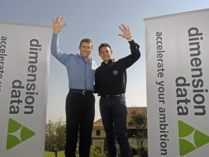 Reaching for the African skies - taking the world of cycling to new heights - Dimension Data CEO Brett Dawson and Doug Ryder.