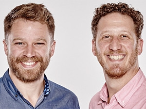 FitKey founders Evan Walther and Joshua Shimkin.