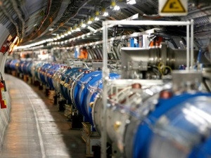Inside the Large Hadron Collider experiment. (Pierre Albouy, Reuters)