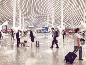 The Shenzhen Bao'an International Airport has three terminals and sees over 20 million people pass through it each year.