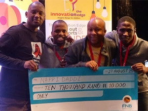 The NappiDaddi team took home a R10 000 prize, which they plan to use to further the app.