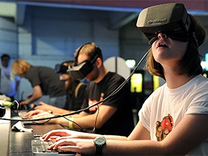 Virtual reality headset company Oculus VR was bought by Facebook last year for $2 billion. (Photograph by BagoGames)