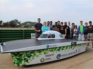 The UKZN's Hulamin solar-powered car boasts a top speed of 115km/h.