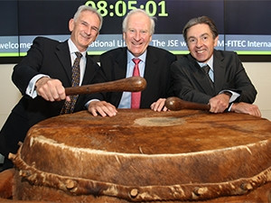 M-FiTEC executives Kevin Boyers (CFO), Charles Rowlinson (CEO) and Greg Voigt (CIO) beat the JSE drum as the company joins the AltX.