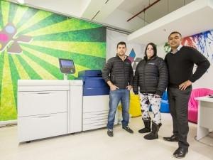 From left: Idan Burstain, CEO and owner of Kustom Digital; Abbi de Villiers, Kustom Digital; and Stuart Daniels, Cape Office Machines