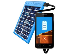 The SunStream mobile phone charger streams electricity from the sun directly into devices, without a chipset or PC board.