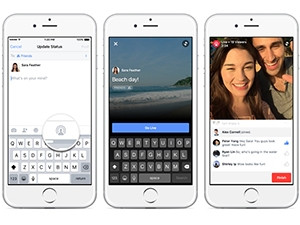 Videos from Facebook's new live-broadcasting feature will appear first in newsfeeds.