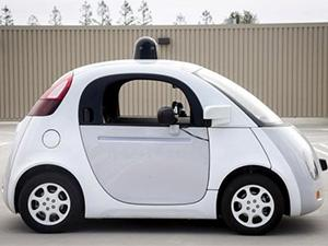 A prototype of Google's self-driving vehicle.