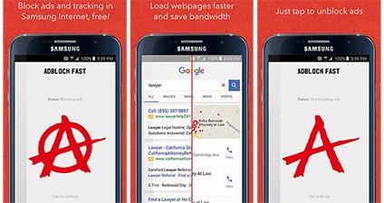 Adblock Fast says use of the app will load Web pages on mobile 50% faster on average.