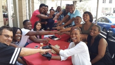 Joy on the faces of the interns after completing four months of intensive study during their Skills for Africa programme with SAP Africa
