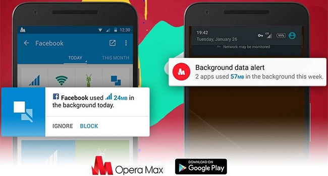 Most people are not aware of background data drain and may not have authorised it, says Opera Software's Sergey Lossev.