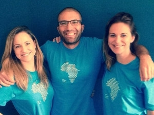 WeThinkCode co-founders Arlene Mulder, Yossi Hasson and Camille Agon.