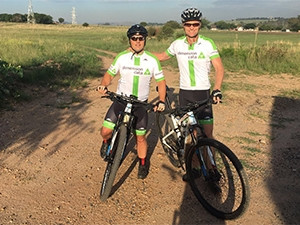 Team ITWeb powered by Dimension Data - Jean-Paul d'Abbadie, MD, Gaap Point of Sale; and Robert Mace, sales director at ITWeb