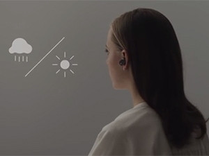 The Xperia Ear, a concept product showcased by Sony, is a Bluetooth earpiece that also acts as a digital assistant.